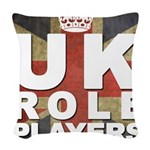 UK Role Players Woven Throw Pillow