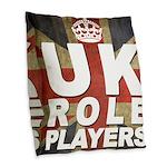 UK Role Players Burlap Throw Pillow