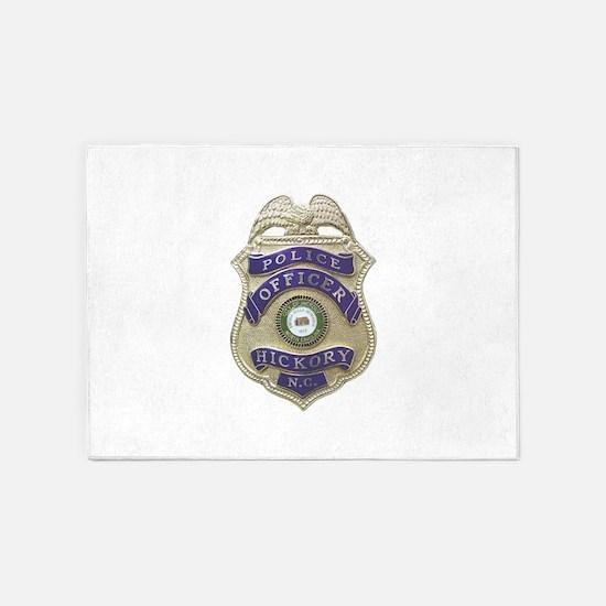 Hickory Police 5'x7'Area Rug
