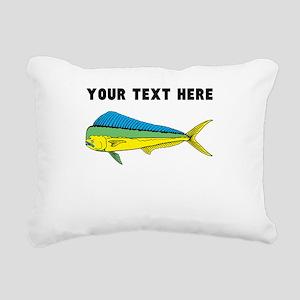 Custom Mahi Mahi Rectangular Canvas Pillow