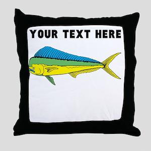 Custom Mahi Mahi Throw Pillow