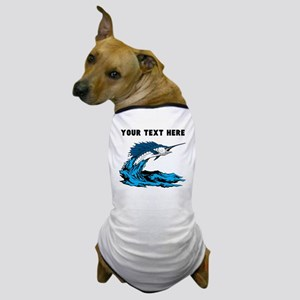 Custom Blue Marlin Dog T-Shirt