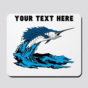 Custom Blue Marlin Mousepad