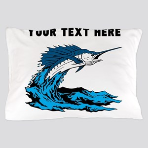 Custom Blue Marlin Pillow Case