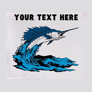 Custom Blue Marlin Throw Blanket