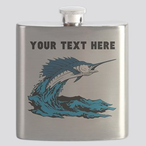 Custom Blue Marlin Flask