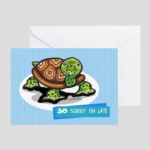 Turtle Belated Happy Birthday Greeting Card
