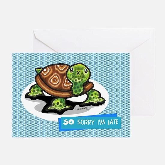 Turtle Belated Birthday Greeting Cards Cafepress