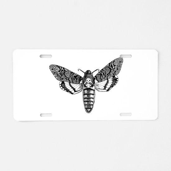 Deaths-head Hawkmoth Aluminum License Plate