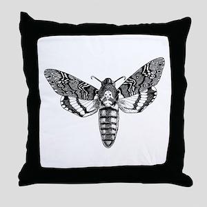 Deaths-head Hawkmoth Throw Pillow