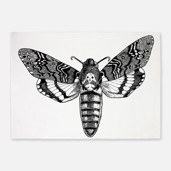 Deaths-head Hawkmoth 5'x7'Area Rug