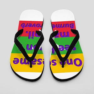 One Sesame Seed Flip Flops