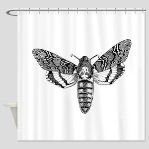 Deaths-head Hawkmoth Shower Curtain