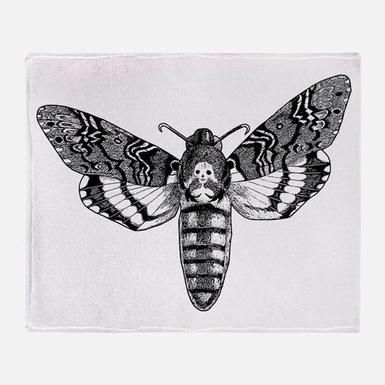 Deaths-head Hawkmoth Throw Blanket