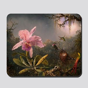 Cattleya Orchid and Hummingbirds Mousepad