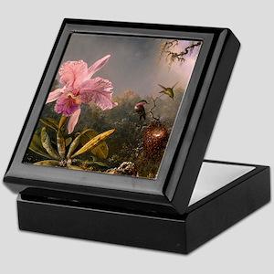 Cattleya Orchid and Hummingbirds Keepsake Box