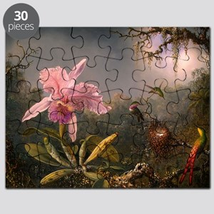 Cattleya Orchid and Hummingbirds Puzzle