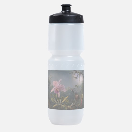 Cattleya Orchid and Hummingbirds Sports Bottle