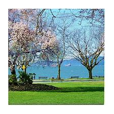 spring walk Tile Coaster