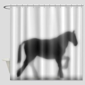 Draft Horse Silhouette Shower Curtain
