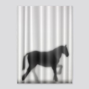 Draft Horse Silhouette 5'x7'Area Rug