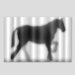 Draft Horse Silhouette Postcards (Package of 8)
