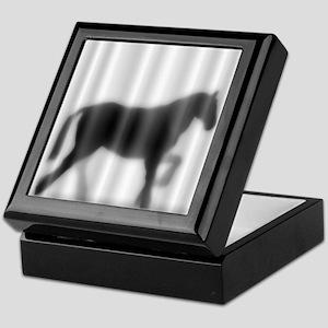 Draft Horse Silhouette Keepsake Box