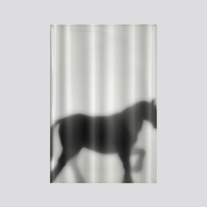 Draft Horse Silhouette Rectangle Magnet