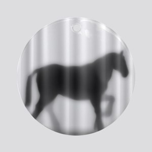 Draft Horse Silhouette Ornament (Round)