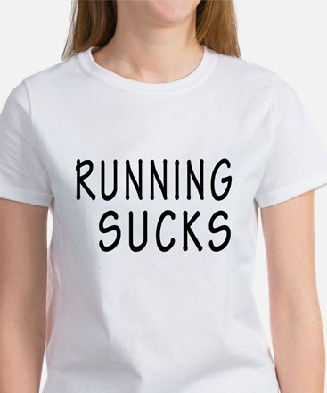 Black Running Sucks T-Shirt