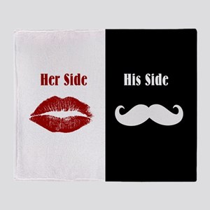 Her Side / His Side Throw Blanket