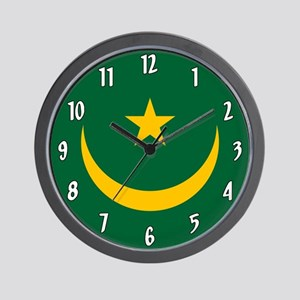 Flag Of Mauritania Wall Clock