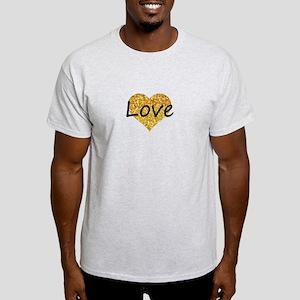 love gold glitter heart T-Shirt