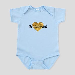 bridesmaid gold glitter heart Body Suit