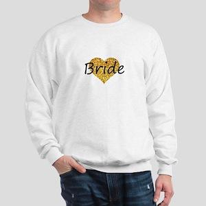 bride gold glitter heart Sweatshirt