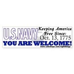 US NAVY Keeping America Free Bumper Sticker