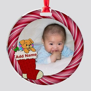Add Photo Round Ornament