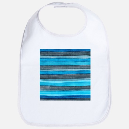Watercolor Brush Strokes Bib