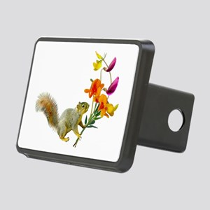 Squirrel Wildflowers Rectangular Hitch Cover