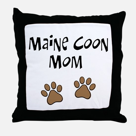 Maine Coon Mom Throw Pillow