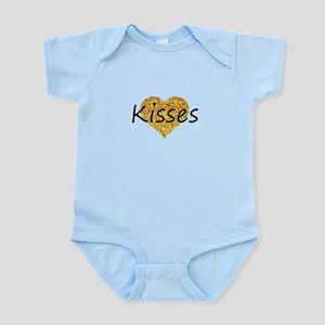 kisses gold glitter heart Body Suit