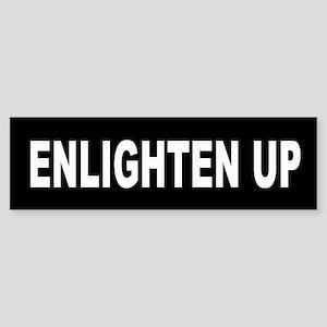 enlighten_up_black Bumper Sticker