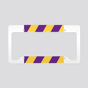 Roya Purple and Pure Gold License Plate Holder