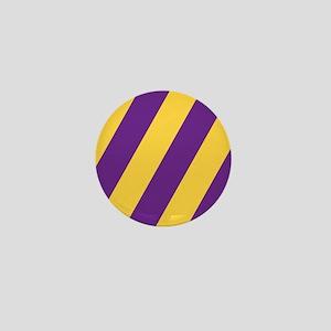 Roya Purple and Pure Gold Mini Button