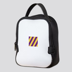 Roya Purple and Pure Gold Neoprene Lunch Bag