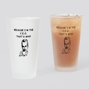 BUSINESS Drinking Glass