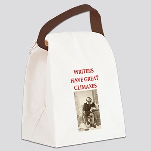 writing Canvas Lunch Bag