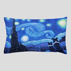 Starry Night Border Collies Pillow Case