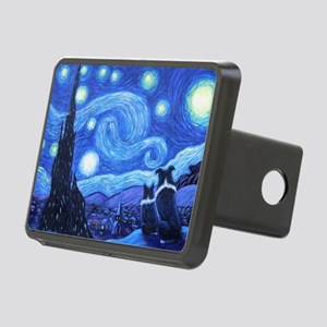 Starry Night Border Rectangular Hitch Cover