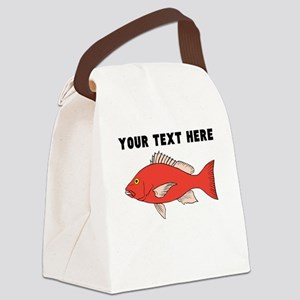 Custom Red Snapper Canvas Lunch Bag